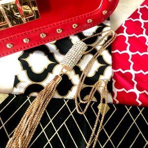 Jewelry - ✨New! Pavé Crystal Tassel Necklace